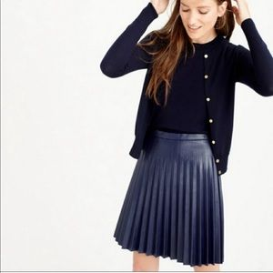 NWT J. Crew Pleated Vegan Leather Skirt Size 10